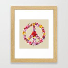 Peace Flower Sign Framed Art Print