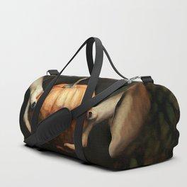 Girl Holding A Pumpkin 1 Duffle Bag