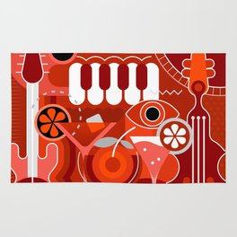 Music and Cocktail Party Rug