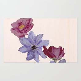 The climbers - rose and clematis Rug