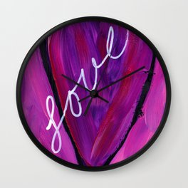 Heart with love Wall Clock