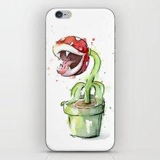 Piranha Plant Art Nintendo Mario Videogame Geek Gaming iPhone & iPod Skin