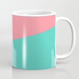 2COLOR | SALMON + AQUA Coffee Mug