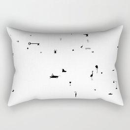 tutti frutti white Rectangular Pillow