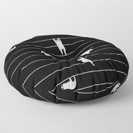 Sloth Stripe Floor Pillow
