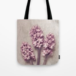 Lovely pink Hyacinths Tote Bag