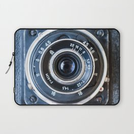 Photo lens of the old Soviet camera. Laptop Sleeve