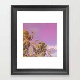 Swaying Palm Trees Framed Art Print
