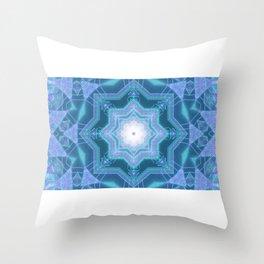 Star shaped neon dots 3d illustration kalaidoscope Throw Pillow