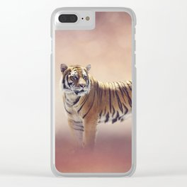 White And Brown Bengal Tigers Clear iPhone Case