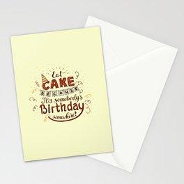 EAT CAKE... Stationery Cards