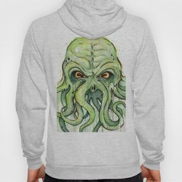 Cthulhu HP Lovecraft Green Monster Tentacles Hoody