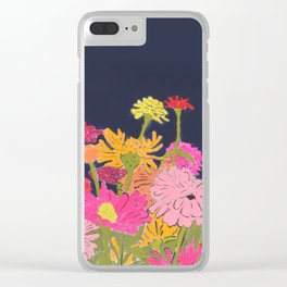 Zinnias Clear iPhone Case