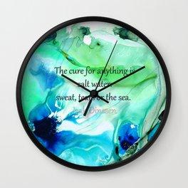 Salt Water Is The Cure - Beach And Sea Art - Sharon Cummings Wall Clock