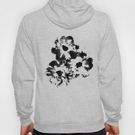 Black Cosmos Flowers Hoody