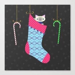Kitten Stocking Canvas Print