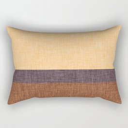 Simple Stripe Abstract with Burlap Pattern Rectangular Pillow