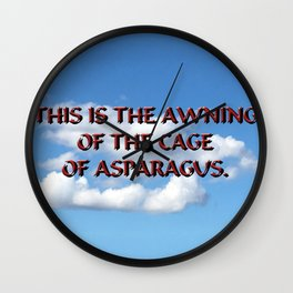 Cage of Asparagus Wall Clock