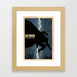 Return of the Bat Framed Art Print