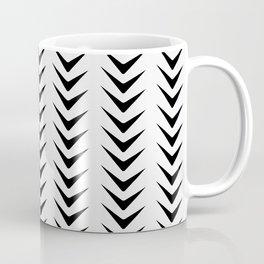White Smoke Chevron Line Mid-Century Arrow Shapes Coffee Mug