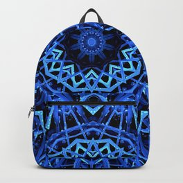 Blue Nature Mandala  Psychedelic Pattern Backpack