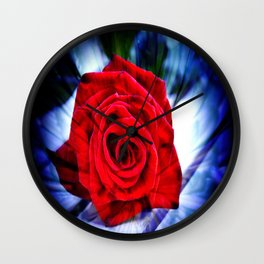 Rose And Piano Love Song By Annie Zeno  Wall Clock