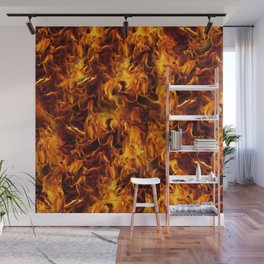 Fire and Flames Pattern Wall Mural