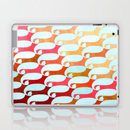 Blue Whale & Red Fox Laptop & iPad Skin