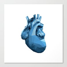Heart - Blue Canvas Print