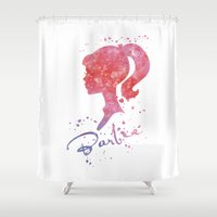 barbie Shower Curtains featuring Barbie by Carma Zoe