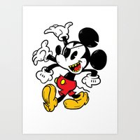 Getting weird with Mickey Art Print