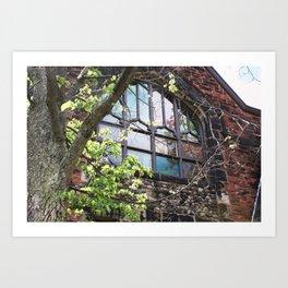 Church Window, Charlottetown Art Print