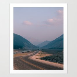 Road to Nowhere in Banff Art Print