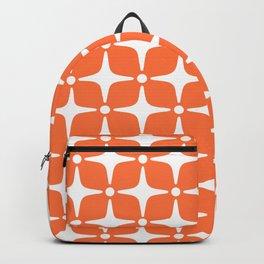 Mid Century Modern Star Pattern Orange 2 Backpack