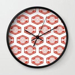 Pizza butt - pattern Wall Clock