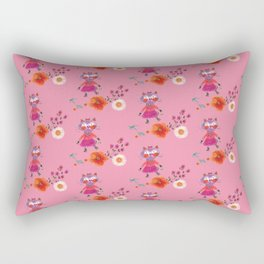 Mademoiselle Pink Rectangular Pillow