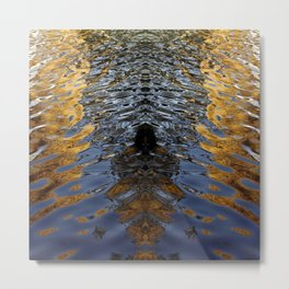 Water ripple square Metal Print