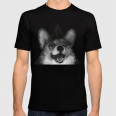 Sausage Fox MEDIUM Mens Fitted Tee Black