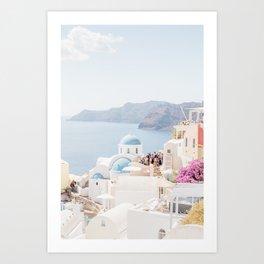 Santorini Pastels Art Print