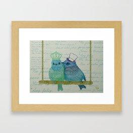 Two lovers Framed Art Print