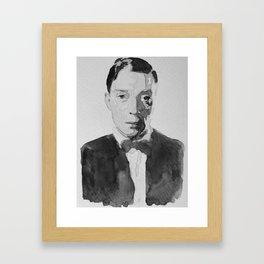 Buster Keaton Watercolor Framed Art Print