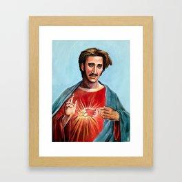 Jesus H.I. Christ Framed Art Print