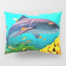 Shark in the water Pillow Sham