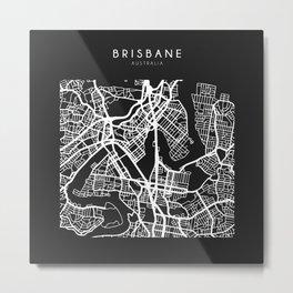 Brisbane, Australia Street Map Metal Print