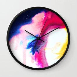 Happiness Talks Abstract Watercolor Painting Wall Clock