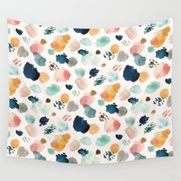 WILD WHIMS Abstract Watercolor Brush Strokes Wall Tapestry
