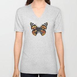 Watercolor Butterfly Mandalas Pattern Unisex V-Neck