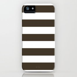 Jacko bean - solid color - white stripes pattern iPhone Case