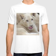 White Lion Cub - The Next Generation! Mens Fitted Tee MEDIUM White