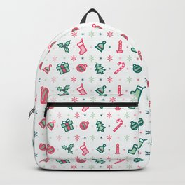 Merry Christmas Pattern 2017 Backpack